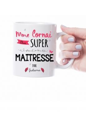 Mug personnalisable super maitresse