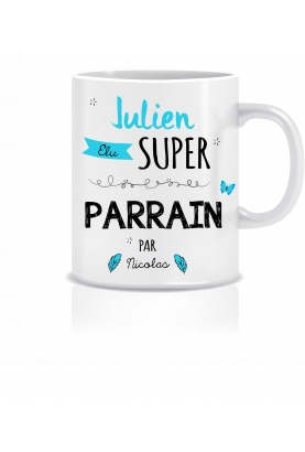 Mug personnalisable super parrain