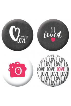 Badges be loved scrapbooking