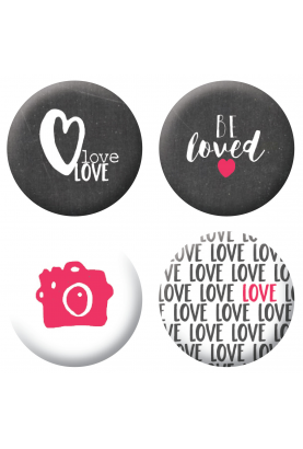 Badges be loved scrapbooking