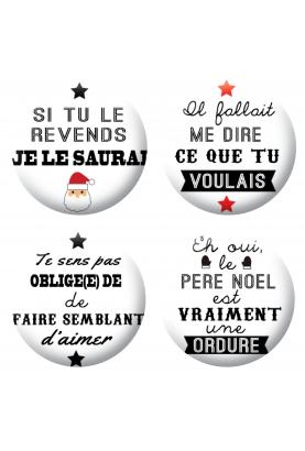 Badges humour noël