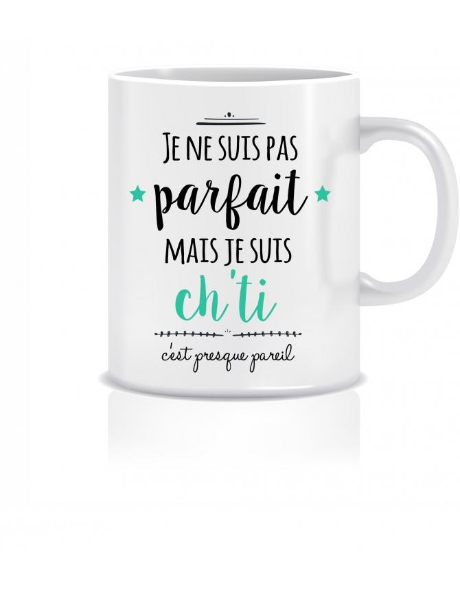 """Mug """"Je ne suis pas parfait(e)..."""" personnalisable"""