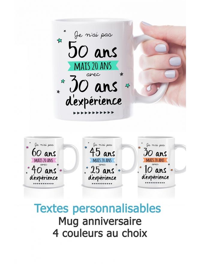 Mug anniversaire personnalisable