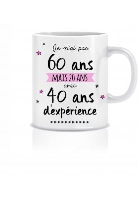 Mug anniversaire 60 ans