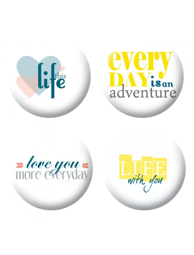 Badges life scrapbooking