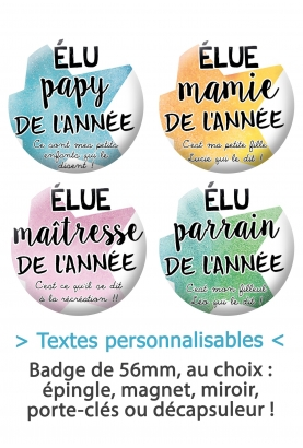 badge parrain. badge maitresse. badges mamie