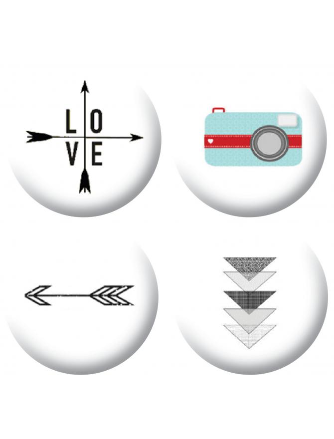Badges love photo scrapbooking