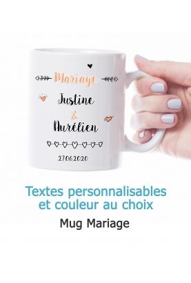Mug Mariage personnalisable