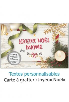 """Carte à gratter """"Joyeux Noël"""" à personnaliser"""