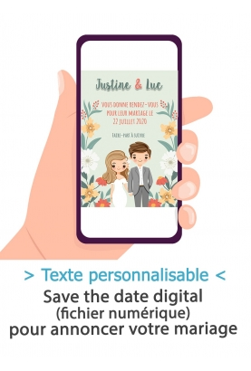 Save the date digitale - couple