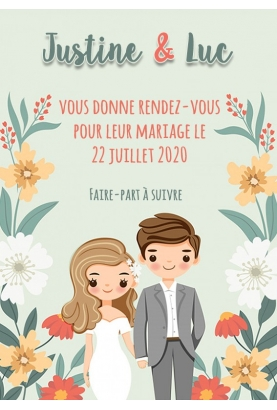 Save the date digitale couple