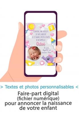 Annonce naissance digitale - fille