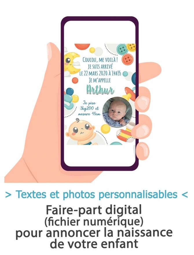 Annonce naissance digitale - mixte