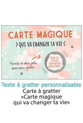 """Carte à gratter """"Carte magique"""" pour annonce ou demande originale"""