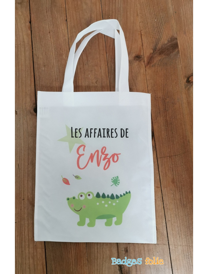 Tote bag enfant crocodile