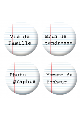 Badges mots 4 scrapbooking