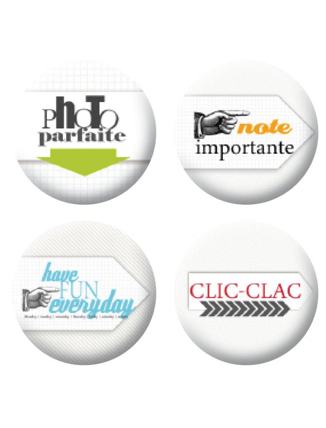 Badges clic clac scrapbooking