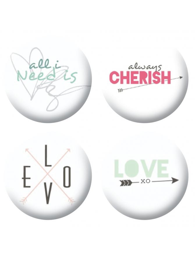 Badges love 4 scrapbooking