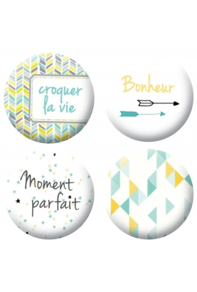 Badges bonheur scrapbooking