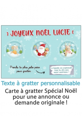 """Carte à gratter """"Joyeux Noël"""" à personnaliser - bulle de noël"""