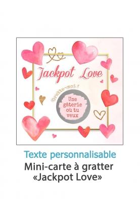 """Mini-carte à gratter """"Jackpot Love"""" à personnaliser"""