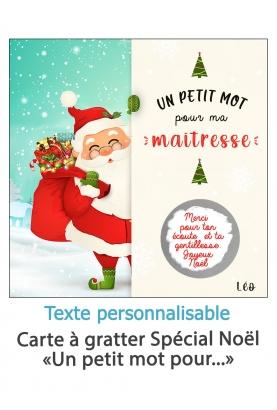 """Carte à gratter """"Un petit mot pour..."""" personnalisable"""