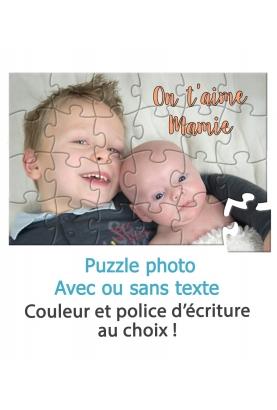 Puzzle photo avec ou sans texte - personnalisable