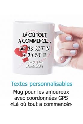 Mug amoureux personnalisable