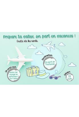 carte voyage. voyage surprise. vacance surprise