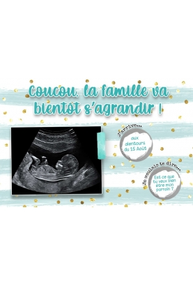 Carte  gratter annonce de grossesse. demande parrain. tu vas etre papy