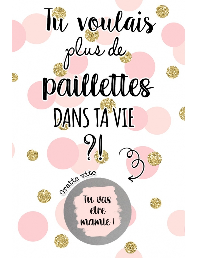 carte gratter annonce grossesse, mariage