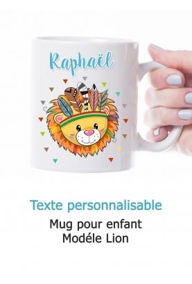 Mug enfant modèle Lion personnalisable