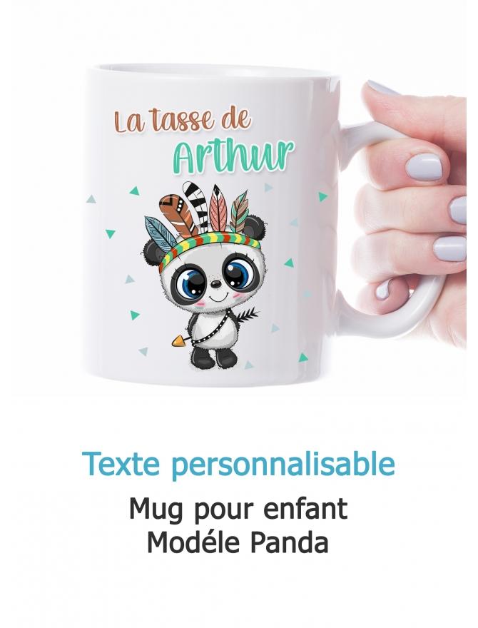 Mug enfant modèle Panda personnalisable
