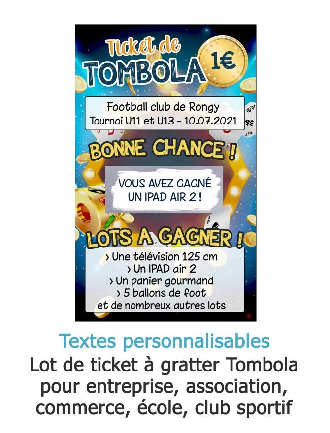 Tombola - Carte à gratter personnalisable