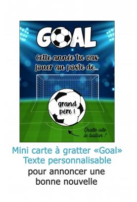 """Mini-carte à gratter """"Goal"""" pour annonce originale"""