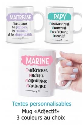 "Mug ""Adjectif"" personnalisable"