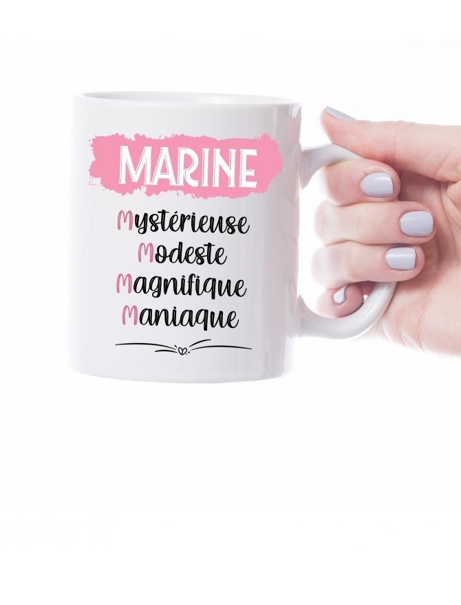 mug prenom adjectif personnalisable