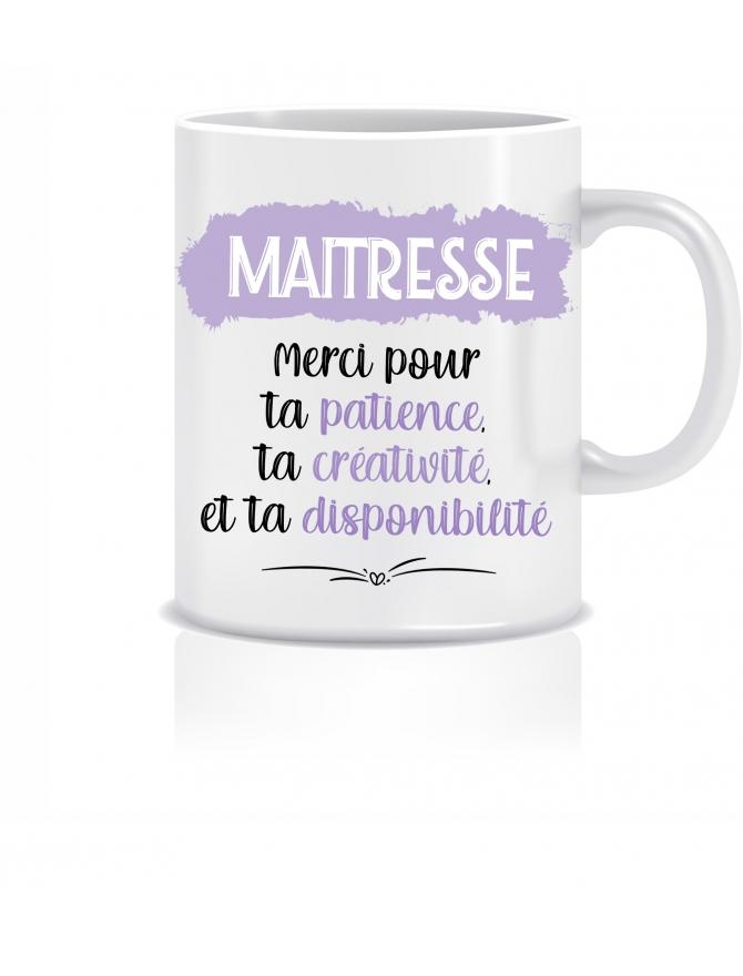 mug maitresse personnalisable