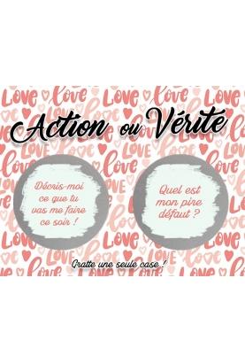 Action ou Vérité couple. cartes coquines. carte sexe. jeu sexe couple
