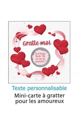 Mini-carte à gratter pour les amoureux à personnaliser