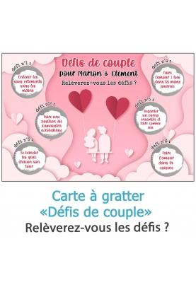 """Carte à gratter """"Défis de couple !"""" pour pimenter votre vie de couple"""