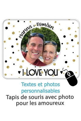 Tapis de souris photo. cadeau tapis souris. cadeau couple. cadeau geek.