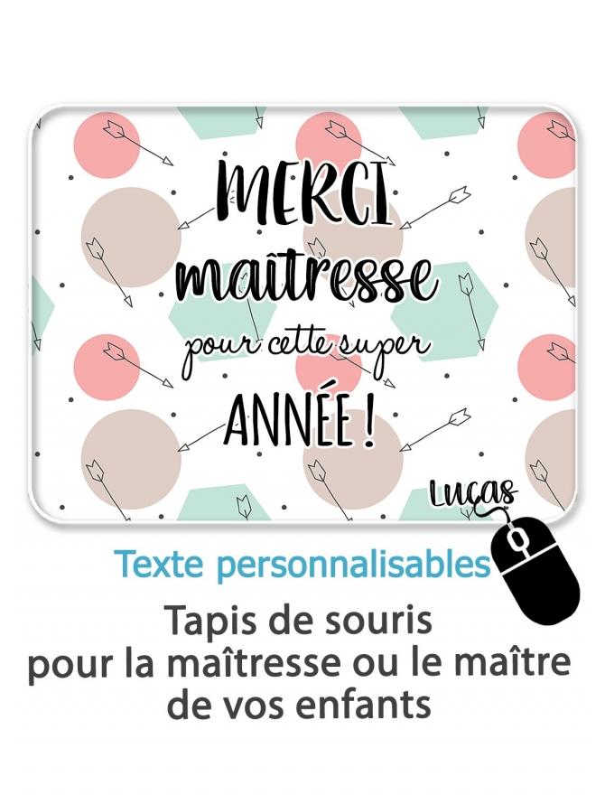 """Tapis de souris """"Merci maîtresse/maître"""" - personnalisable"""