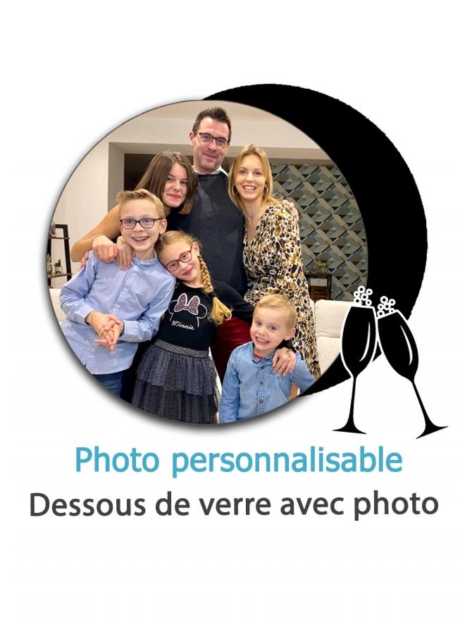 Dessous de verre avec photo - personnalisable