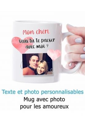 Mug amoureux avec photo - personnalisable