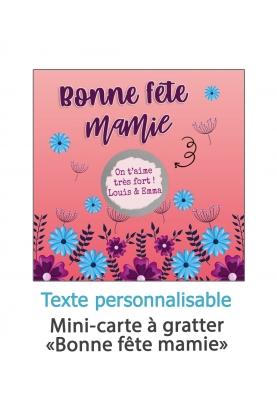 """Carte à gratter """"Bonne fête mamie"""" - personnalisable"""