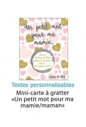 """Mini-carte à gratter """"Un petit mot pour...""""  ma maman, mamie - personnalisable"""