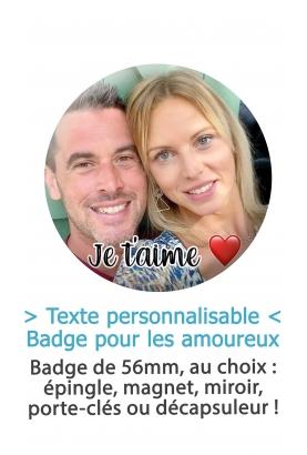 """Badge 56mm """"Photo"""" pour les amoureux"""