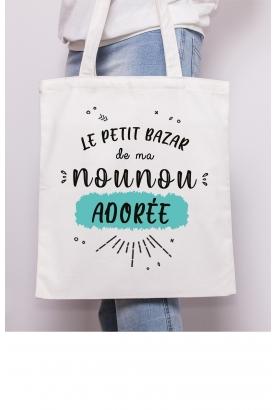"""Tote bag """"Le petit bazar..."""" à personnaliser"""
