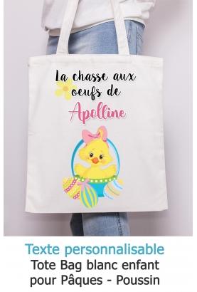 Tote bag enfant pour Pâques modèle poussin